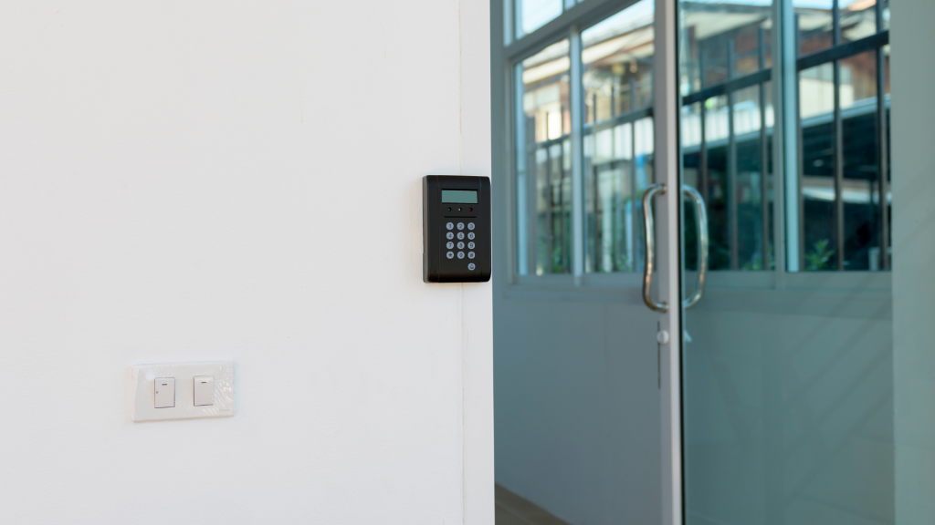 keyless entry system for glass door